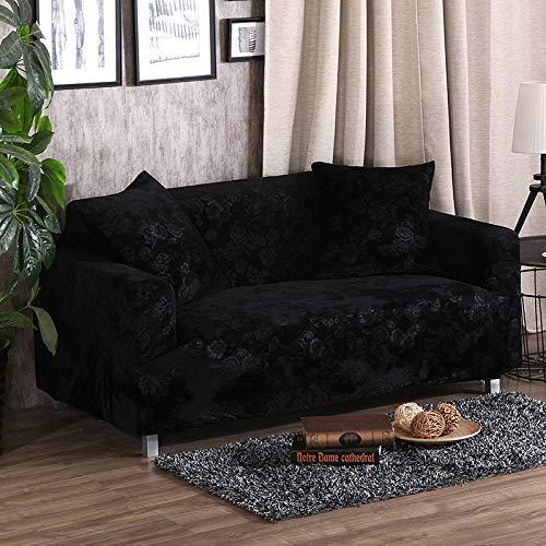 YYLVM Spesso del sofà Covers 1/2/3/4 posti Pure Color Divani in Tessuto Elastico Protector Velvet...