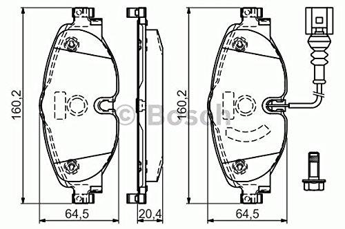 Bosch 0 986 494 660 Kit pastiglie Freno, Freno a Disco