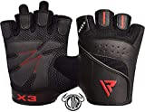 RDX Gym Weight Lifting Gloves Leather Workout Fitness Crossfit Bodybuilding Powerlifting Breathable Wrist Support Strength Training Exercise