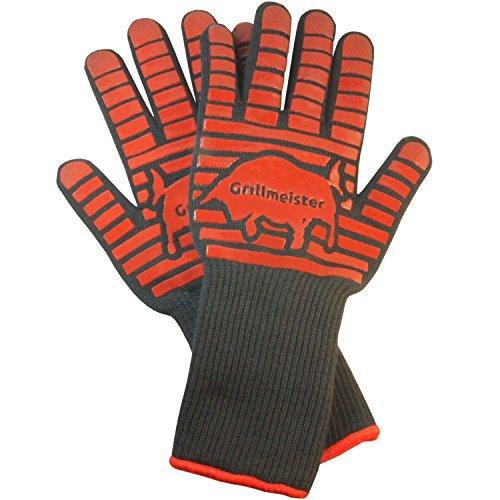 Guanti Grillmeister Premium XXL Grill al calore strisce resistenti silicone extra lunghi guanti da...
