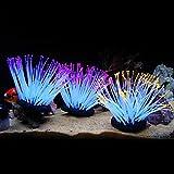 Anémonas luminosas artificiales de silicona de varios colores para decoración de acuario de Zhi Jin