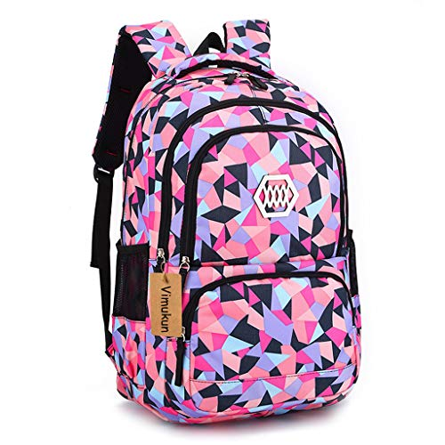 Schulrucksack Schultasche Schulranzen Mädchen Schulrucksack Jugendliche Schulrucksack Sportrucksack Freizeitrucksack Daypacks Backpack für Mädchen Jungen & Kinder - Schwarz