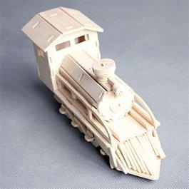 3D Puzzle di Legno Treno Woodcraft Construction Kit – Steam Locomotive – Giocattoli per