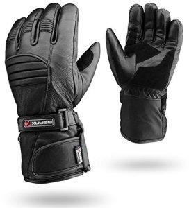 Winter Leder Motorrad Handschuhe Reflektierende wasserdichte gepolsterte Thermo 13