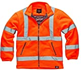 Dickies Mens Heavyweight Hi Viz Fleece Rail Railway Zip Pockets Jacket Top Warm Work EN471 M-3XL (XL)