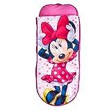 ReadyBed Minnie Mouse Cama Hinchable y Saco de Dormir Infantil Dos en Uno, Poliéster, Pink, Individual, 150.00x62.00x20.00 cm