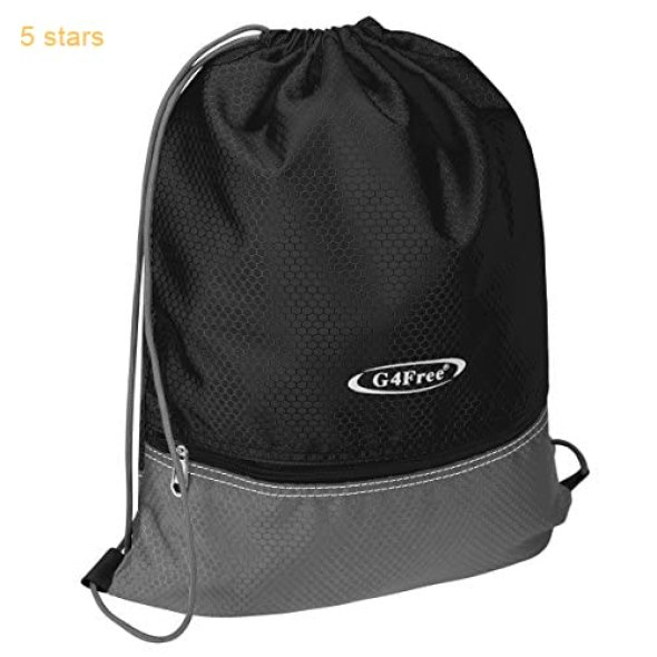 8b7e8f213e4a G4Free Unisex Drawstring Backpack Gymsack Gym Bag Rucksack for Adults and  Children