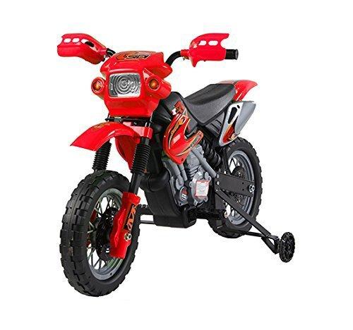 homcom Moto Cross Elettrica per Bambini con Rotelle Rosso