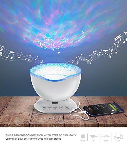 Lampada 3d, lampada d' atmosfera, Decoration Zen, Lampadario soggiorno Multicolore diffusa Musica e...