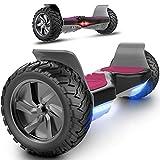 MARKBOARD Hoverboard 8,5 Zoll Elektro Scooter Skateboard 350W*2 Motor - Gyropod Modell (schwarz pink)