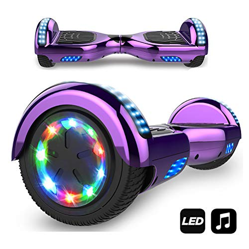 Hoverboard, Self Balance Scooter Elettrico, Balance Scooter con LED, Due Ruote 6.5', Batteria...