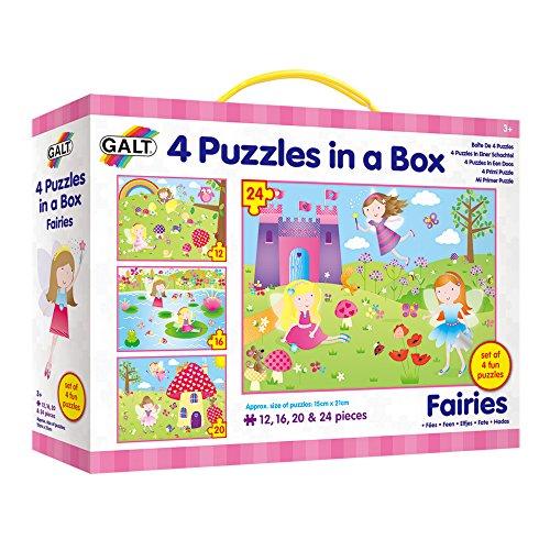 Galt Toys, 4Puzzle in Una Scatola, Fairies