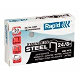 RAPID 24858300 - Caja 1000 grapas 24/8 mm Super Strong acero inoxidable