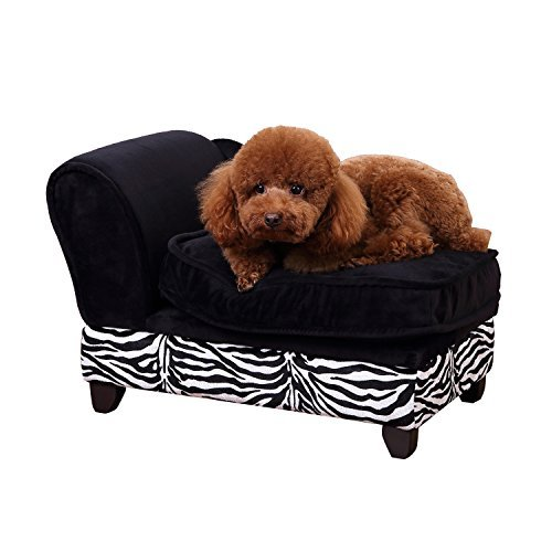PawHut Hundesofa Hundecouch mit Stauraum Katzen Sofa Hundebett Haustier