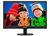 "Philips 193V5LSB2 Monitor 18.5"" LED, 5 ms, VGA, Attacco VESA, Nero"