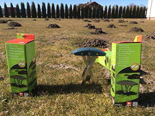 This SWISSINNO SuperCat Mole Trap is a super effective tool with with high catch rates, is very easy to use once you have leant how, top tip watch the Youtube video to be sure but there is a downside, its very expensive for one trap.