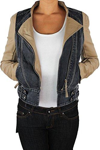 Damen Lederjacke Kunstlederjacke Damenjacke Jacket Bikerjacke...