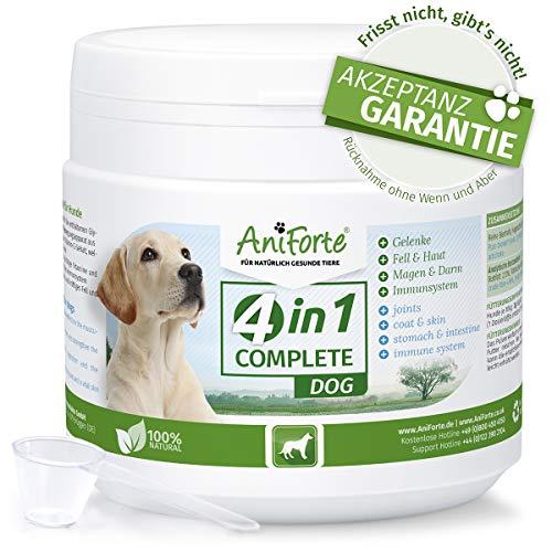 4in1 Complete 250 g. | Condroprotector 100% Natural | Articulaciones y Movilidad | Antioxidantes, Prebióticos, Vitaminas, Zinc y Hierro | Suplemento para Perros | AniForte