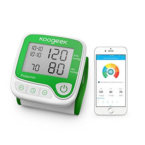 Koogeek Bluetooth Smart Misuratore di Pressione Sanguigna Elettronico da Polso--Apple & Android...