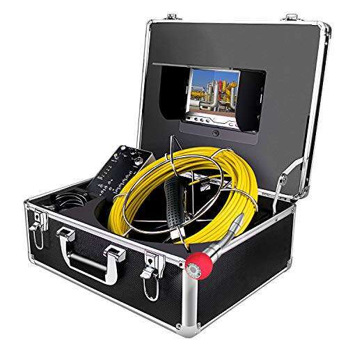 Telecamera di Ispezione dei Tubi 30m con DVR Registratore Funzione (Include 8GB SD scheda) Scarico Industrial Endoscopio per Conduttura Ispezione Impermeabile Videocamera System con HD 7' Monitor LCD