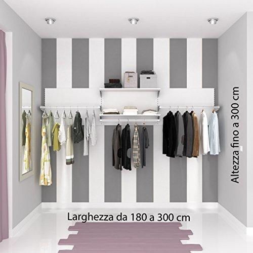 ALUCABINA Cabina armadio, armadio a muro. Allestimento negozio su misura. Alluminio qualità