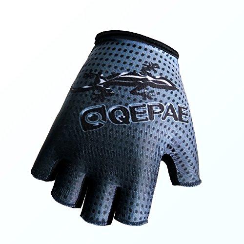QEPAE Guanti da Ciclismo Sport Gel Guanto efingerlose Gloves 048