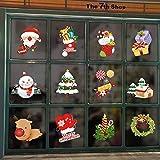 UMIPUBO Natale Adesivi Natale Vetrofanie Addobbi Rimovibile Adesivi Statico Fai da te Finestra Sticker Decorazione Natale Vetrina Wallpaper Adesivi 12 PZ (Natale)