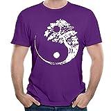 Yin Yang Bonsai Tree Últimos Hombres Camisetas de Manga Corta Ropa de Verano Tops para Hombres 6XL