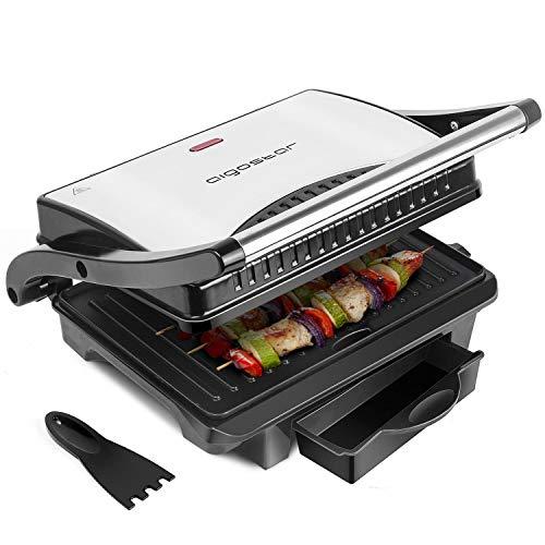 Aigostar Hett 30HHJ - Panini Maker/Griglia, Pressa a sandwich, Griglia elettrica, 1000 Watt, Fredda...