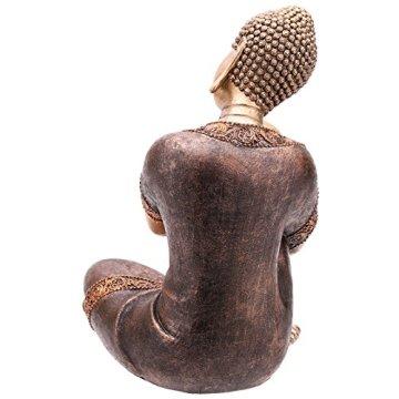Decorativa figura de buda cabeza descansando sobre la rodilla-altura 29cm ancho 20,5cm Profundidad 18cm 5