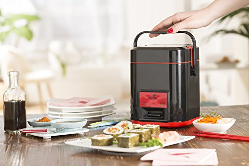 Senya cuiseur à riz Kit Sushi,  1L pour 500g de riz, deux kits fourni pour faire des sushis maison, Maintien au chaud, SYCK-RC003/A
