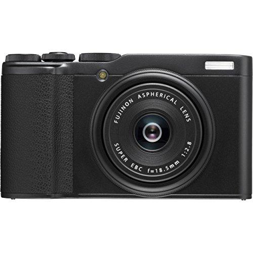 Fujifilm XF10 Black Fotocamera Digitale Compatta, 24 MP, Obiettivo Fujinon 18.5 mm F2.8, Sensore CMOS APS-C, Teleconverter Digitale, Nero