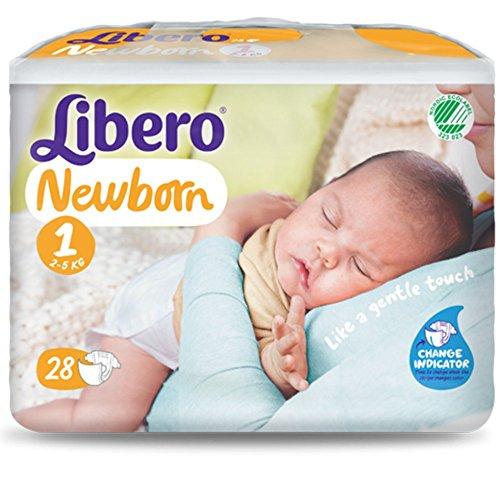 Pannolini Libero Newborn Misura 1 - Kg 2/5 - 112 pezzi (4 pacchi da 28)