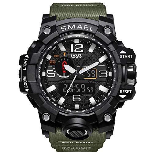Fomtty Orologio da polso orologi analogico digitale orologio da polso sportivo impermeabile Uomo LED...