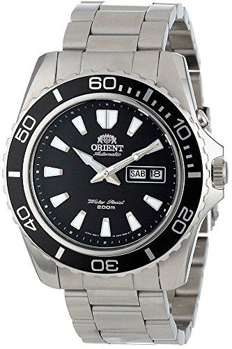 Orient Herren Analog Automatik Uhr mit Edelstahl Armband FEM75001B6