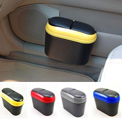 Laxon Compact Trash Rubbish Can Garbage Dust Dustbin Box Case Holder car (Random Color)
