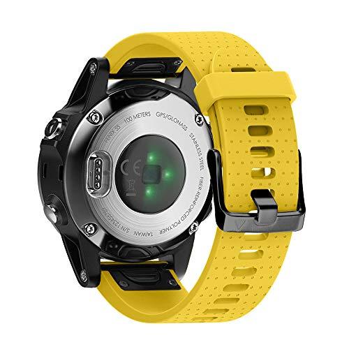 NotoCity Cinturino per Garmin Fenix 5S / Fenix 5S Plus/Fenix 6s / Fenix 6s PRO, Easy Fit 20mm Cinturino di Ricambio in Silicone, Quick-Fit, Colori Multipli