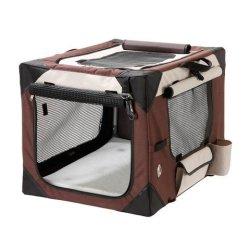 hundeinfo24.de Falt – Transportbox Hundetransportbox Katzentransortbox faltbar Hundebox Kennel PKW Box