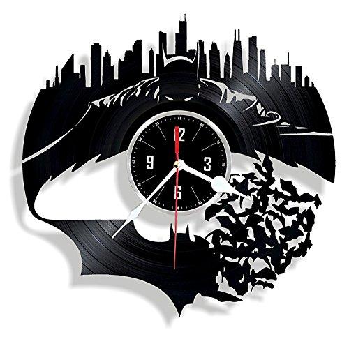 HMGift Batman vinyl Wall Clock-Ottimo regalo per compleanno, anniversario o qualsiasi altra...