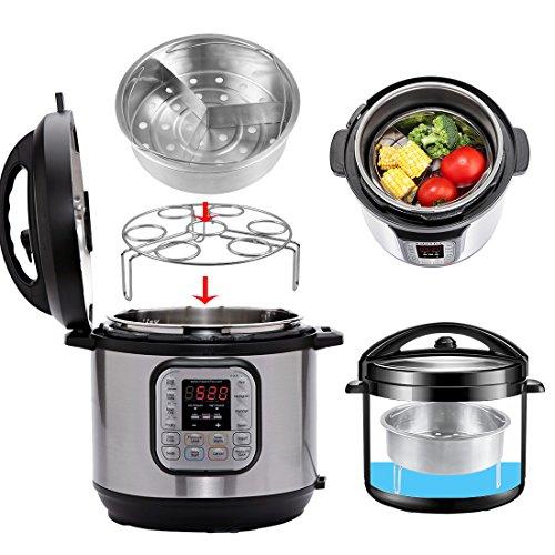 Accessori per pentola a pressione Instant Pot, cestello per cottura a vapore, supporto e...