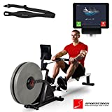 Sportstech RSX600 professional rowing machine - Air Magnetic Drive - smartphone control - fitness app - 16 resistance levels - pulse belt in value of 29.90£ included - competition mode - foldable (RSX600)