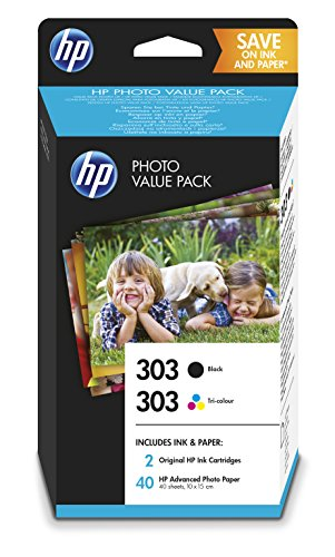 HP 303 Value Pack Z4B62EE Cartucce Originali per Stampanti HP a Getto di Inchiostro, Compatibili con...