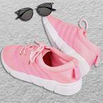 DRUNKEN Women's Sports Mesh Pink Running Shoes, Football Shoes, Cricket Shoes,Basketball Shoes, Badminton Shoes, Walking Shoes, Tennis Shoes