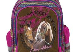 *Cheval Blanc grand sac a dos cartable école loisirs extrascolaires Horses Pony Poney Vente