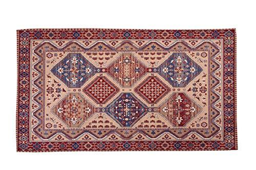 HomeLife Tappeto Stile Persiano/Orientale 60x110CM | Tappetino in Cotone per Salotto/Camera da...