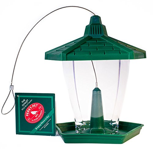 "Perky-Pet Vogelfutterspender \""Chalet\"" für Wildvögel / Vogelfutterhaus aus Kunststoff / Füllkapazität 0,6 kg /Mod. HF950"