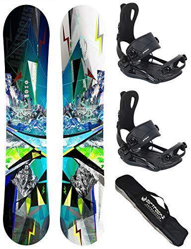 Airtracks Snowboard Set - TAVOLA Places Wide 156 - ATTACCHI Master M - SB Bag