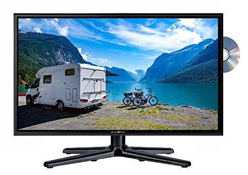 Reflexion LDDW-20N Wide-Screen LED-Fernseher (20 Zoll) für Wohnmobile mit DVB-T2 HD, DVD-Player, Triple-Tuner und 12 / 24 Volt Kfz-Adapter (HD Ready, HDMI, USB, EPG, CI+, DVB-T Antenne), schwarz