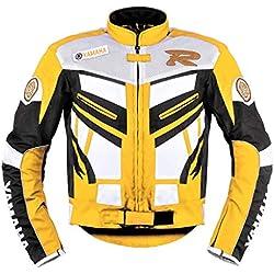 Corelli MG Chaqueta Textil para moto Yamaha Racing Amarilla (M EU-50)