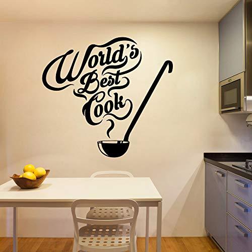 Adesivo murale cuoco creativo migliore del mondo Adesivo murale impermeabile rimovibile in pvc...
